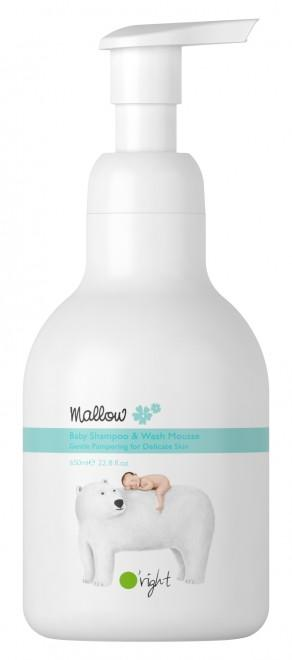 Mallow baby shampoo&wash mousse